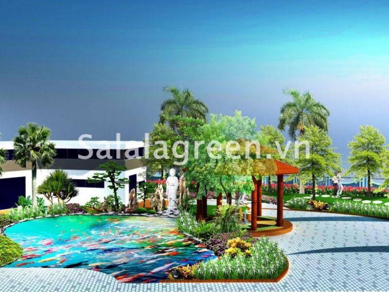 Thiết kế cảnh quan nhà máy dệt Nam Định