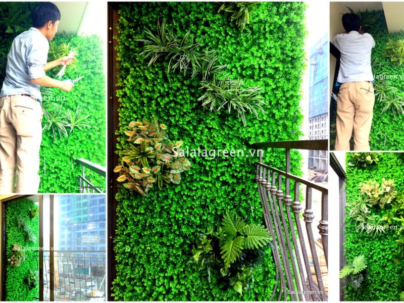 thi công vườn đứng, thi công vườn tường, thi công vườn tường cây giả