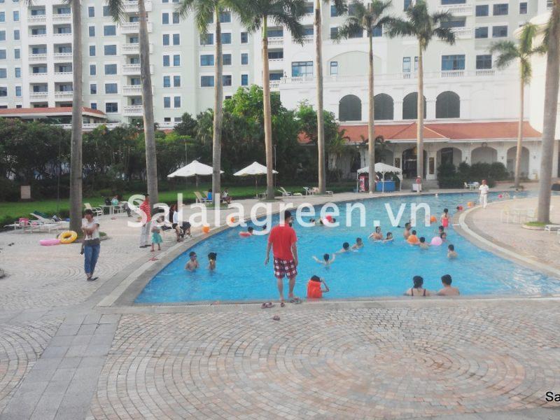 Thi công trồng cây khách sạn Deawoo-Liễu giai