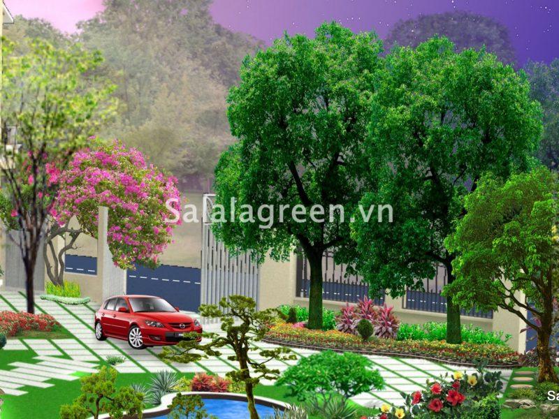 Thiết kế sân vườn biệt thự Vinhomes Riverside