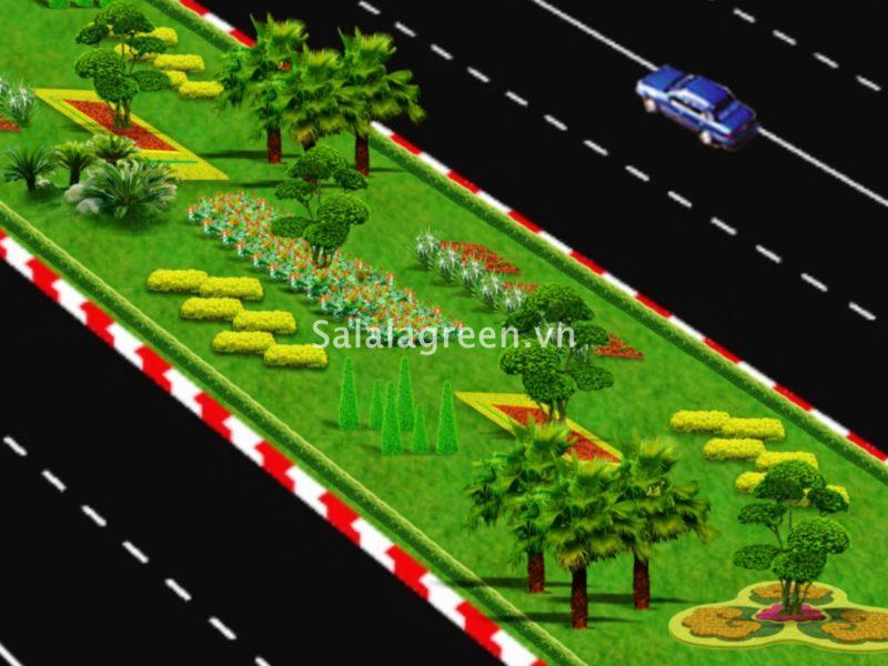 Thiết kế cảnh quan cây xanh đại lộ Ninh Bình
