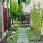 Thiết kế cây xanh sân vườn Biệt thự Làng Việt Kiều Châu Âu