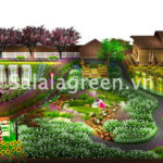 Thiết kế vườn hoa Thảo Nguyên Sơn La
