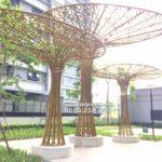 Chọn lựa cây xanh trong sân vườn các khu trung cư cần lưu ý gì?