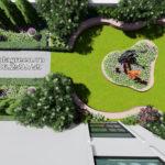 Tư vấn thiết kế sân vườn trên mái Tầng 07 số 2B Lê Đức Thọ