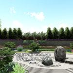 Tư vấn thiết kế sân vườn trên mái Tầng 10 số 2B Lê Đức Thọ