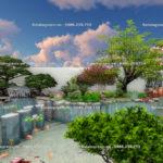 Thiết kế sân vườn đẹp Biệt thự Vinhomes Riverside
