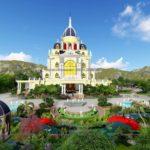 Thiết kế sân vườn lâu đài Xuân Thủy