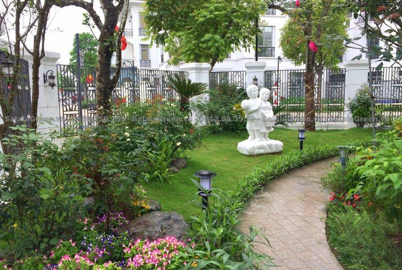 Chăm sóc cây xanh sân vườn biệt thự HD309