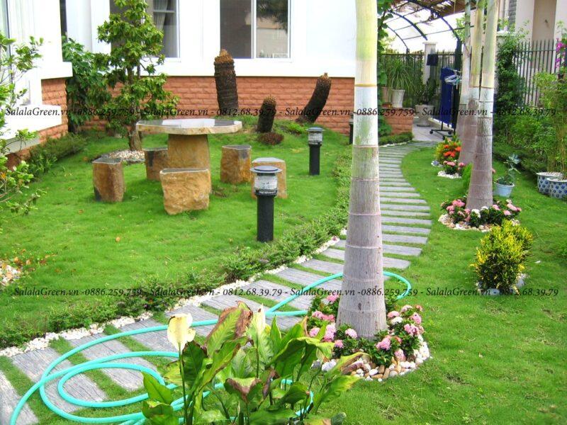 Thi công sân vườn đẹp tại Hà Nội
