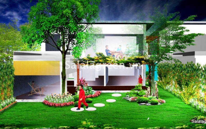 Thiêt kế sân vườn biệt thự đại lải resort