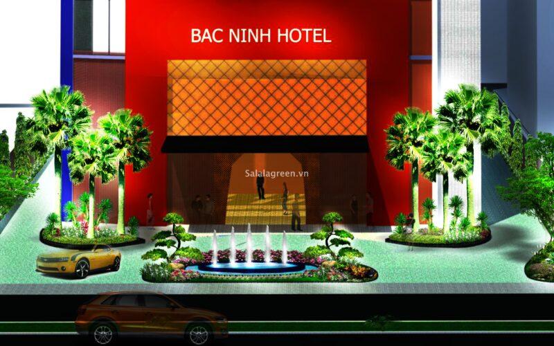 Thiết kế cảnh quan khách sạn indochina Băc Ninh