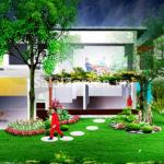 Thiết kế sân vườn Biệt Thự Đại Lải Resort
