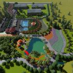 Thiết kế sân vườn đẹp – thiết kế cải tạo trạm dừng nghỉ kết hợp sinh thái Thành Phố Uông Bí – Tỉnh Quảng Ninh