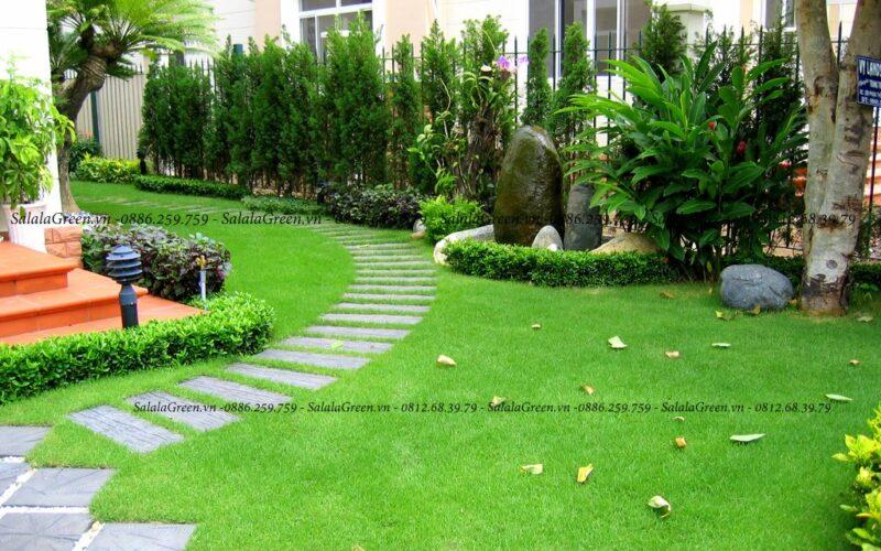 Thi công san vườn khu đô thị Việt Hưng